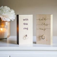 You've got to see how we made these darling 'Wedding Ring Holders' in under an hour! Awesome newlyweds gift!