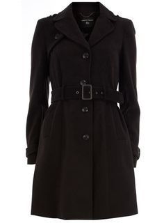 Dorothy Perkins Black military trench coat