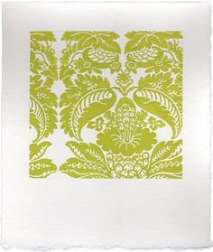 Sara Eichner-'chartreuse new floral wallpaper'-Sears-Peyton Gallery