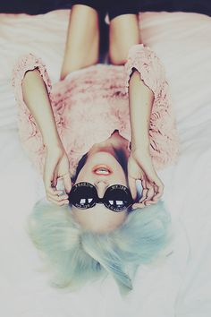 pastels, fashion, mint green, cotton candy, candies, blue hair, pink, green hair, sunglasses