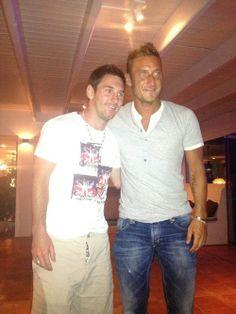 Francesco Totti e Leo Messi