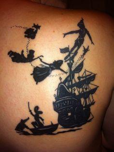 Amazing Peter Pan tattoo