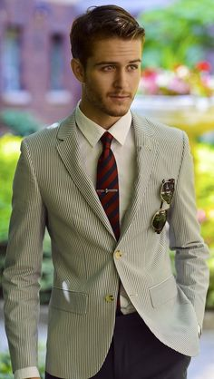 Summer is coming summer fashions, blazer, tie, suit, guy style, thick hair, stylish men, style guides, style fashion