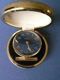 I love vintage travel clocks!