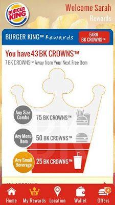 FREE Burger King Reward Points for FREE FOOD