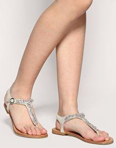 Pretty, cheap wedding sandals