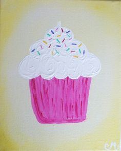 Canvas painting, perfect for a little girls room.