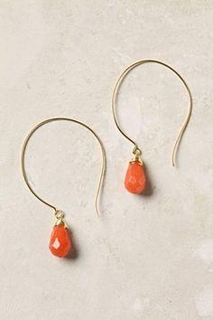 Anthropologie.  Coral earrings