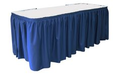 Available in MANY different colors, this can brighten up any trade show display! http://www.table-cover.com/table-cover-styles/table-skirts/