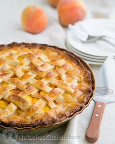 Perfect Peach Pie Recipe. Includes link to a flaky crust that calls for cream cheese.