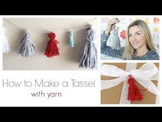 ▶ How to Make a Tassel with Yarn - YouTube