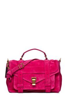 Dream Bag - Proenza Schouler Suede  Hot Pink Bag.