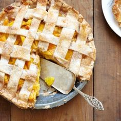 Peach Pie with a lat