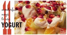 11 wonderful ways to use yogourt: Breakfast snack dessert and more healthi snack, snack dessert, breakfast snacks, snack ect