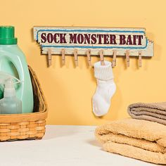 Missing Sock Hanger - OrientalTrading.com Love this cute way to hold onto single socks till their match appears!