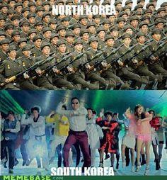 gangnam style, southkorea, boyfriend, north korea, funni