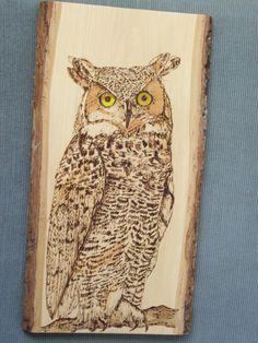 Great Horned Owl Wood Burning