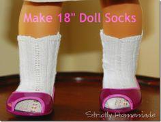 """18"""" Doll socks tutorial"""