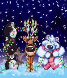 The Grumpiest Reindeer by Steven K. Smith, via Behance