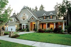 wow... country and craftsman style home... plan 071D-0194
