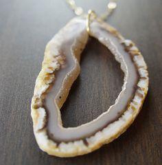 lemon agate druzy necklace by friedasophie