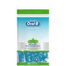 Oral B Advantage Floss Picks With Textureslide Technology-Cool Mint-90 ct (Quantity of 6)