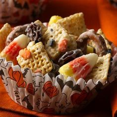 Halloween Chex Mix -     Recipe @  https://www.facebook.com/GypsysMeltingPot