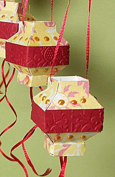 Chinese lanterns made with the Cricut! chinese lanterns, cricut project, chines lantern