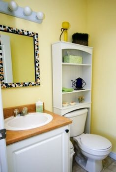Decorating windowless bathroom on pinterest small for Windowless bathroom design ideas