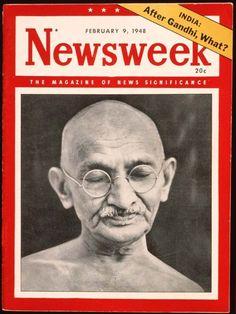 Gandhi: Iconic peace symbol Gandhi was assassinated in 1948.
