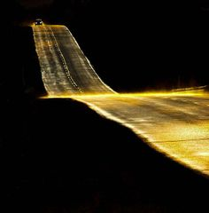 Highway at Night long road, old men, art, light, the road, black, yves lorson, roads, photographi