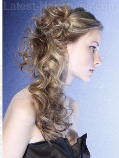 Cascading Curls Wedding Hairstyle