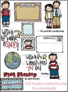 Flat Stanley clip art-$7.00 etsy
