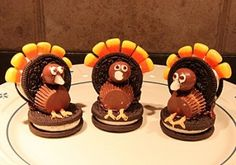 Cute Thanksgiving Desserts  I made these a few years ago and they are so easy and cute!
