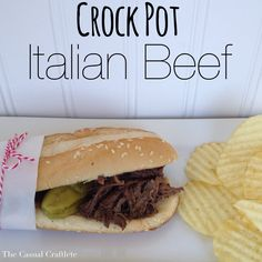 Looking for an easy Italian Beef recipe for game day or dinner for a busy family?  Then you will want to try this recipe out.  It's so hard during the week sometimes to find the time to make dinner.  That is why I love Crock Pot meals.  You ca