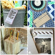 diy father's day gift ideas on the blog today, complete with links and instructions!