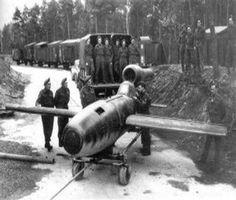 Fieseler Fi 103R (Reichenberg) Manned V 1 Flying bomb.