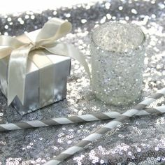 Sequin Table Runner - Silver