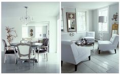 Love the living room on the right!  It's white and right!