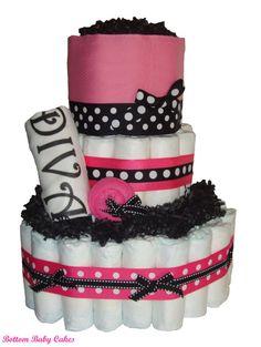 Diva Baby Girl Diaper Cake by BottomBabyCakes on Etsy,