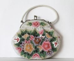 Vintage Beaded Purse by threadsandpins on Etsy