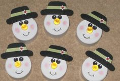 Snowman Tea Light by Woody - Cards and Paper Crafts at Splitcoaststampers