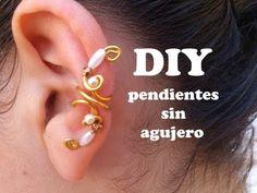 ▶ DIY Como hacer pendientes o aretes sin agujeros con alambre de aluminio. Earring, Pending - YouTube tutorial, earring