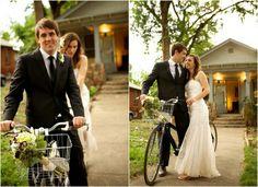 Wedding Couple On Bike