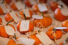 wedding favors, escort cards, pumpkin, place cards, name cards
