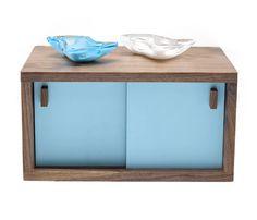Blue Storage Side Table.