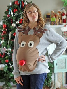 Running With Scissors: Ugly Christmas Sweater: Maternity