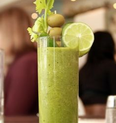 """Green Bloody Mary Recipe -The delicious """"Green Mary"""" from NYC's Cafeteria! #FoodRepublic"""