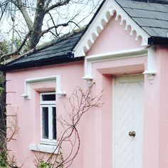 A pretty pink gatehouse in South County Dublin