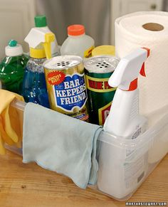 How to make an essential kitchen cleaning kit